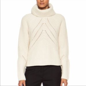 Rag & Bone Cece Funnel Cream Sweater